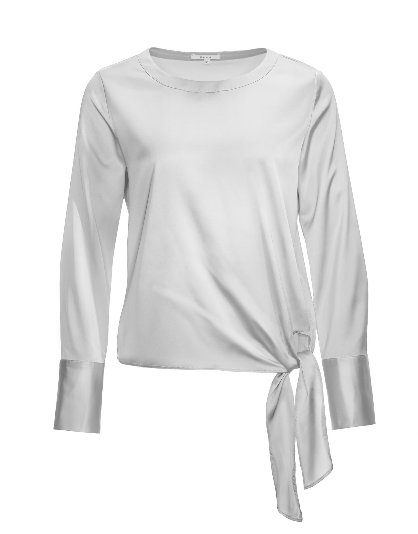 Grijze blouse met lange manchetten Opus - Flota Satin 229134952