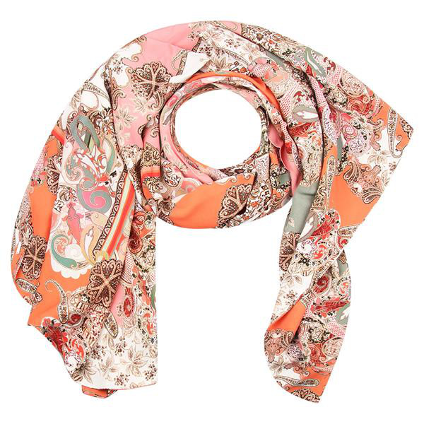 Gekleurde dames sjaal paisley Gustav - 26809