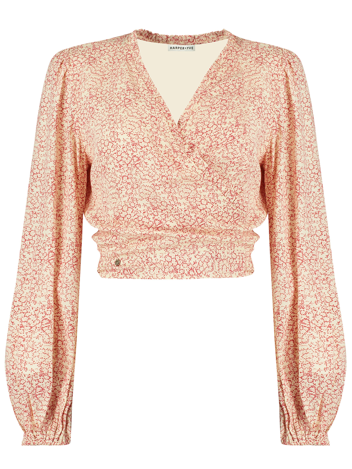 Geel Rood dames blouse - Harper &Yve - SS21X614 - ivory/red