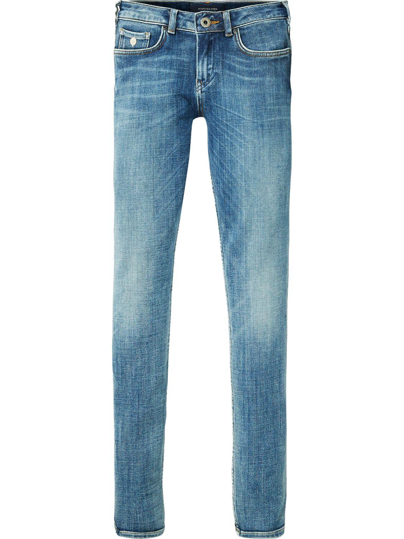 Blauwe Skinny Jeans Maison Scotch 100277