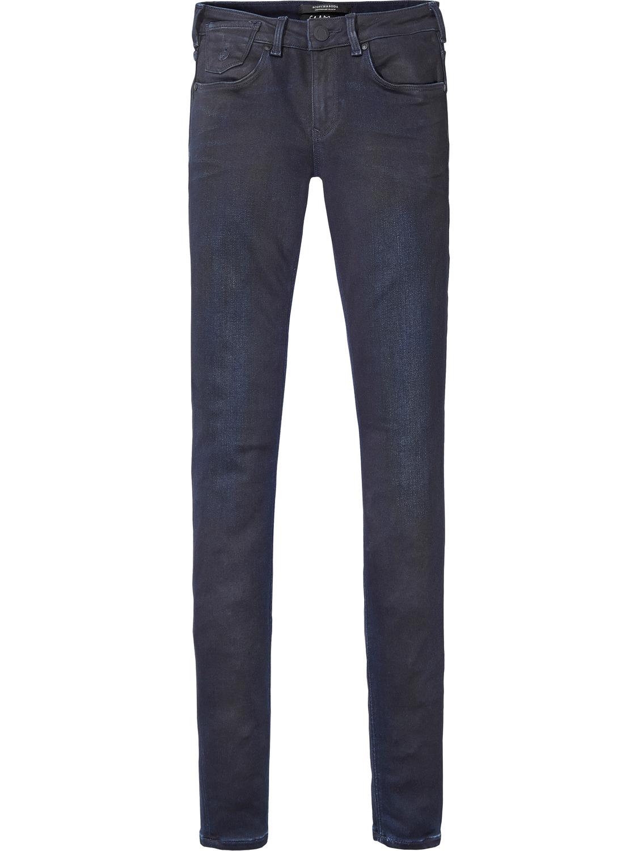 Blauwe Skinny Jeans Maison Scotch 100746