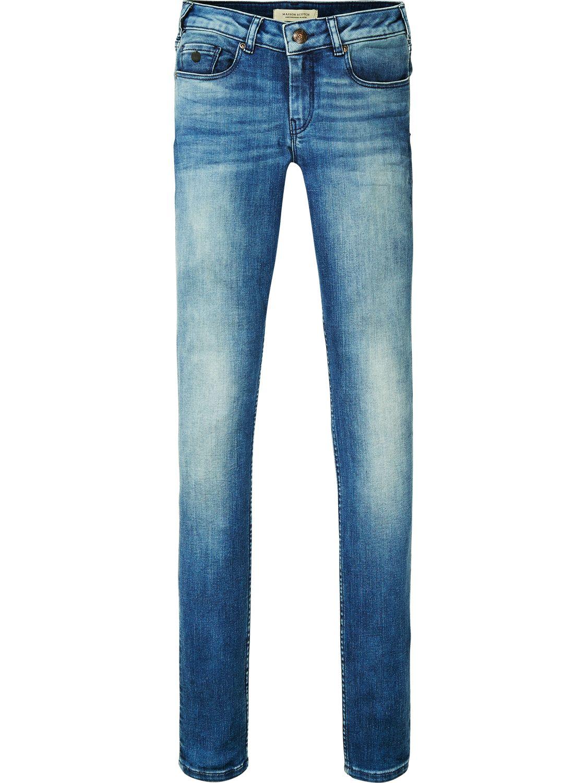 Blauwe Skinny Jeans Maison Scotch 100760