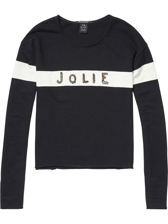 Zwarte dames sweater Maison Scotch - 102085