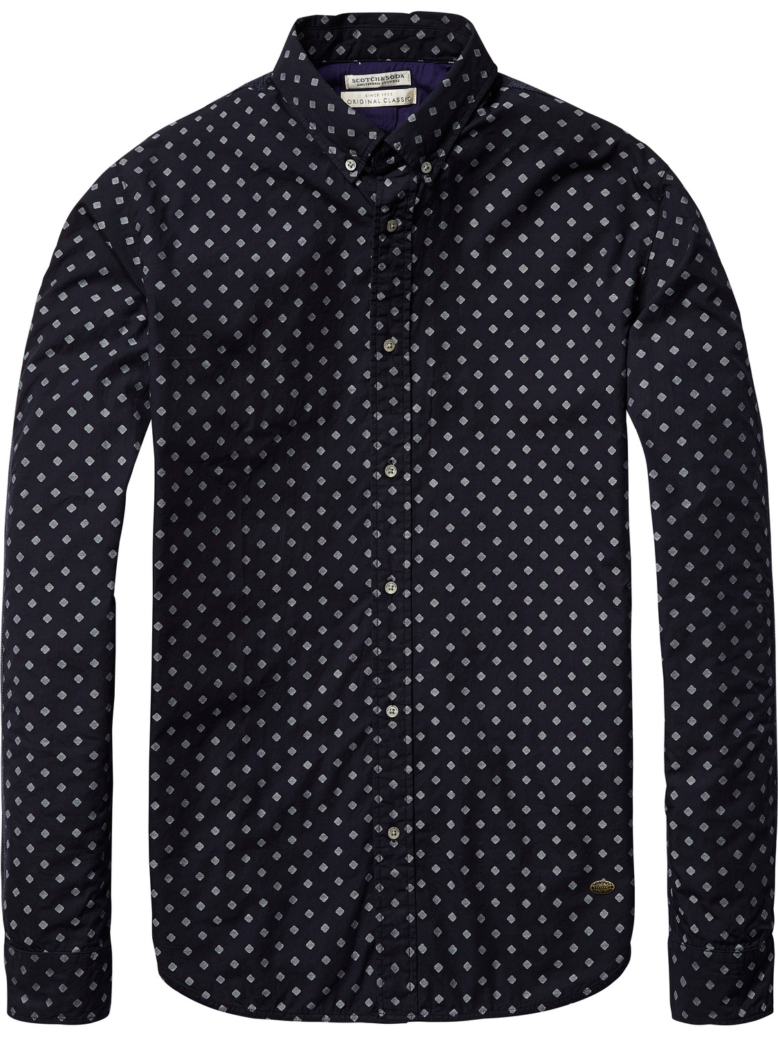 Donkerblauw heren overhemd Scotch & Soda - 101416