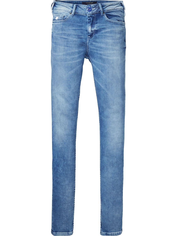 Blauwe dames skinny jeans Maison Scotch - 135200