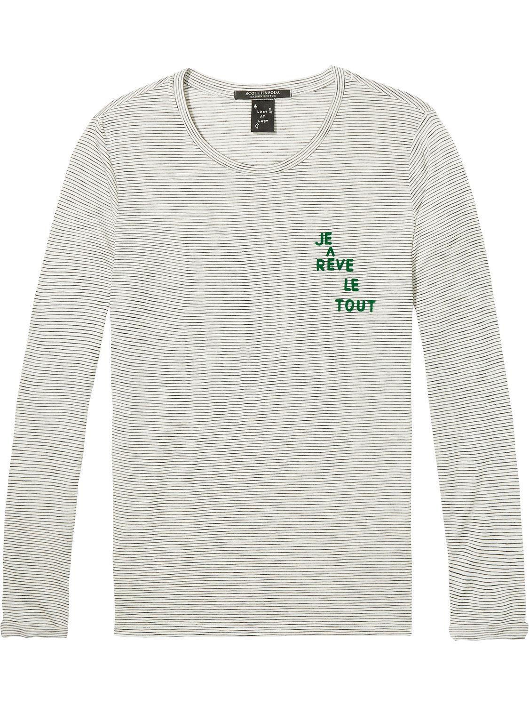 Wit grijs dames shirt Maison Scotch - 137307