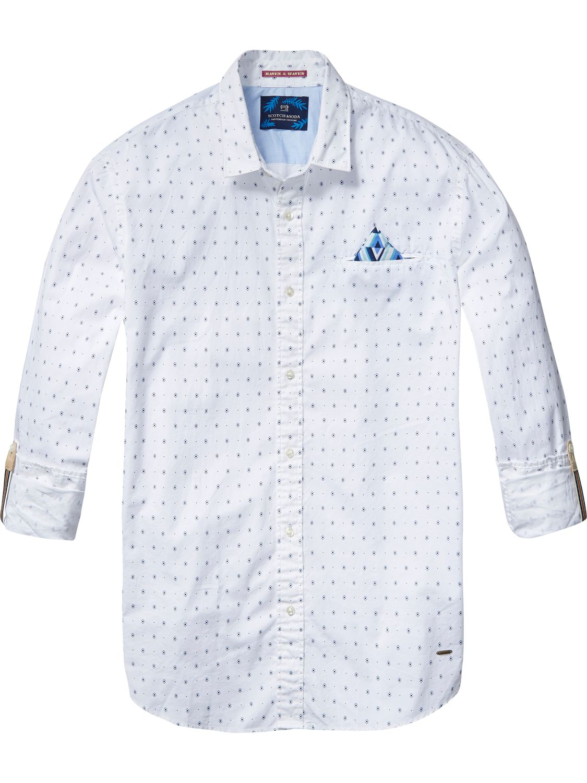Witte heren blouse Scotch & Soda - 136299