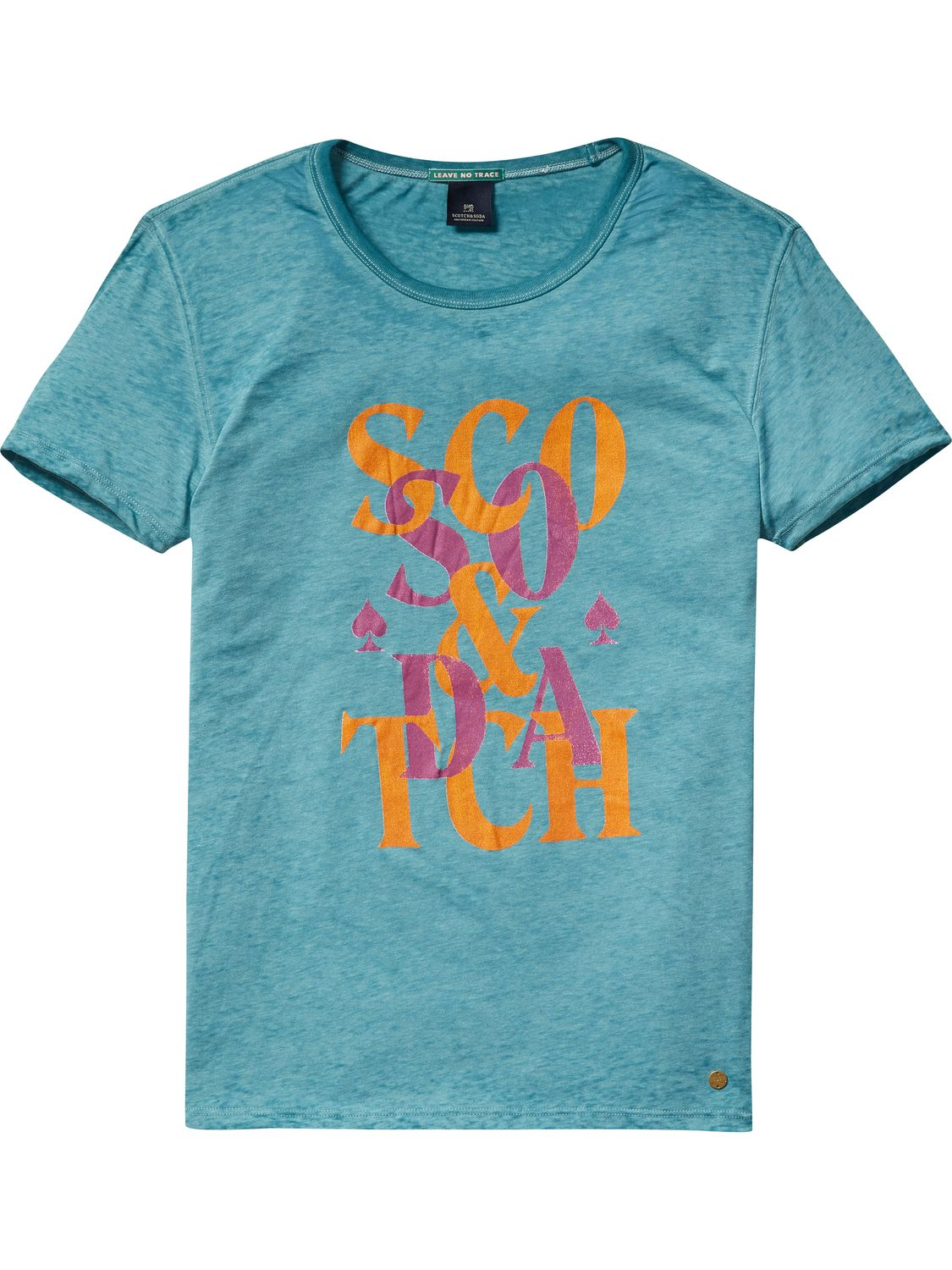 Groen heren t shirt Scotch & Soda - 136494