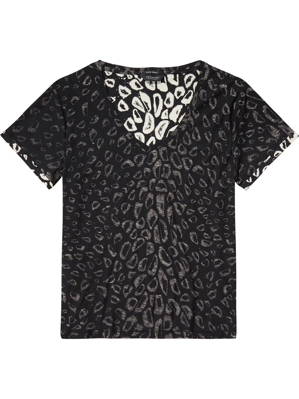 Zwart geprint dames shirt Maison Scotch - 142204