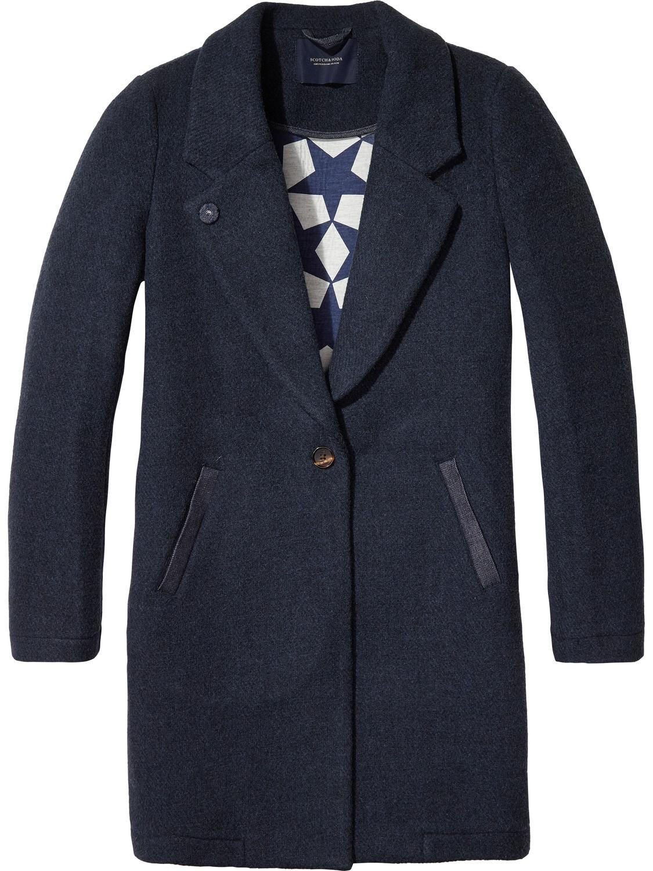 Donkerblauwe dames jas trench Maison Scotch - 138354