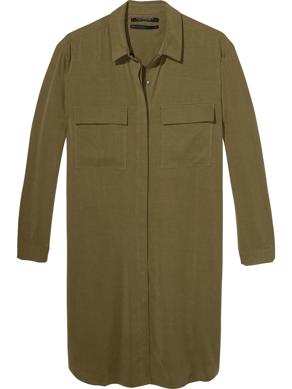 Donkergroene dames tengel jurk Maison Scotch - 136808