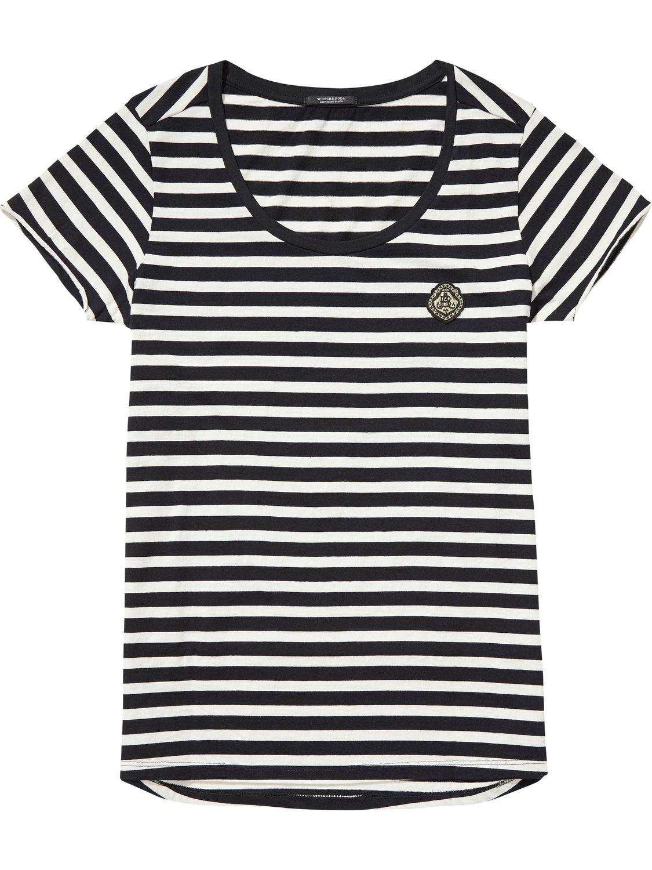 Zwart wit gestreept dames shirt Maison Scotch - 138543