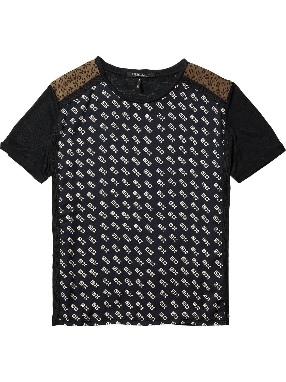Zwart geprint dames shirt Maison Scotch - 140887