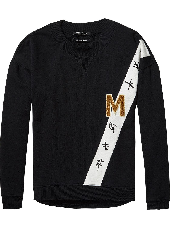 Zwarte dames sweater Maison Scotch - 140623