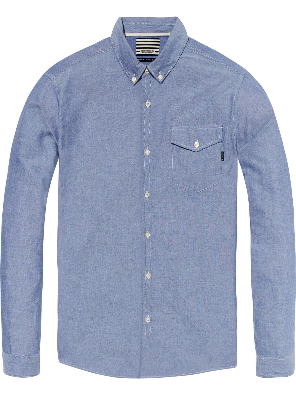 Blauw heren overhemd Scotch & Soda -141253