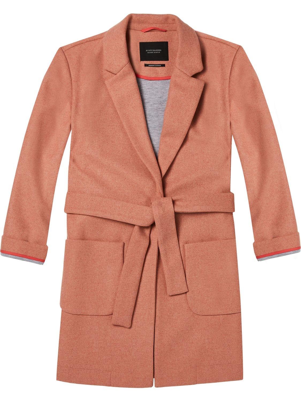 Roze oranje dames jas Maison Scotch - 143610