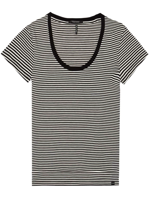 Zwart wit gestreept dames shirt Maison Scotch - 143732