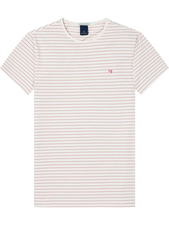 Wit rood gestreept heren shirt Scotch & Soda - 142643
