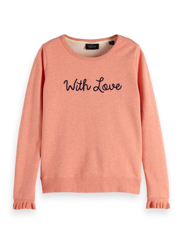 Zalm roze dames trui Maison Scotch - 148610