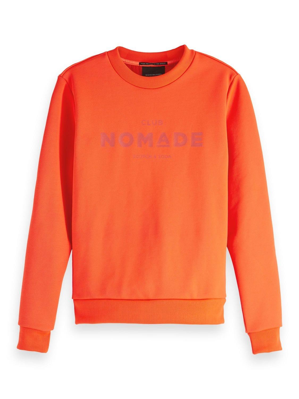 Oranje dames trui met logo Maison Scotch - 147745