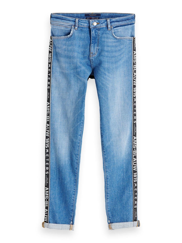 Blauwe boyfriend dames jeans Maison Scotch - 148638