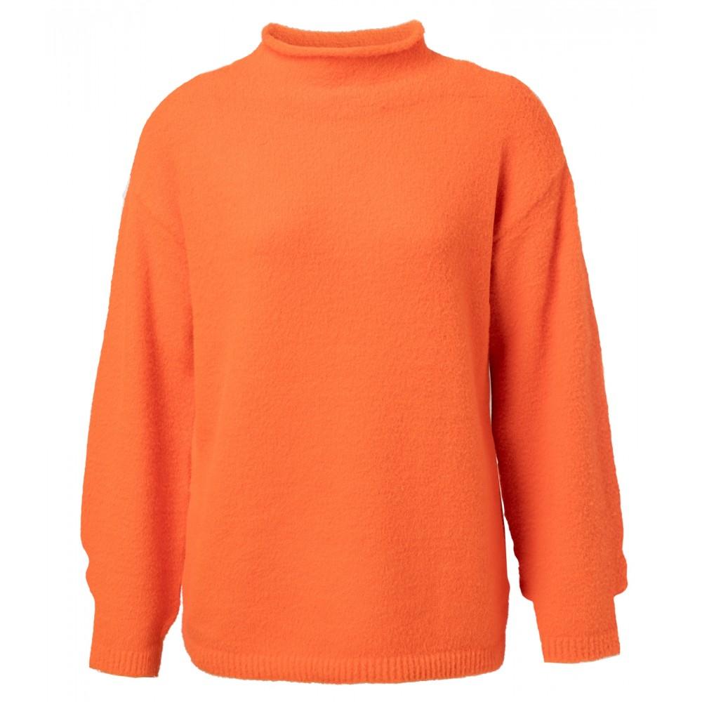 Oranje dames trui met hoge hals Yaya - 1000202-924