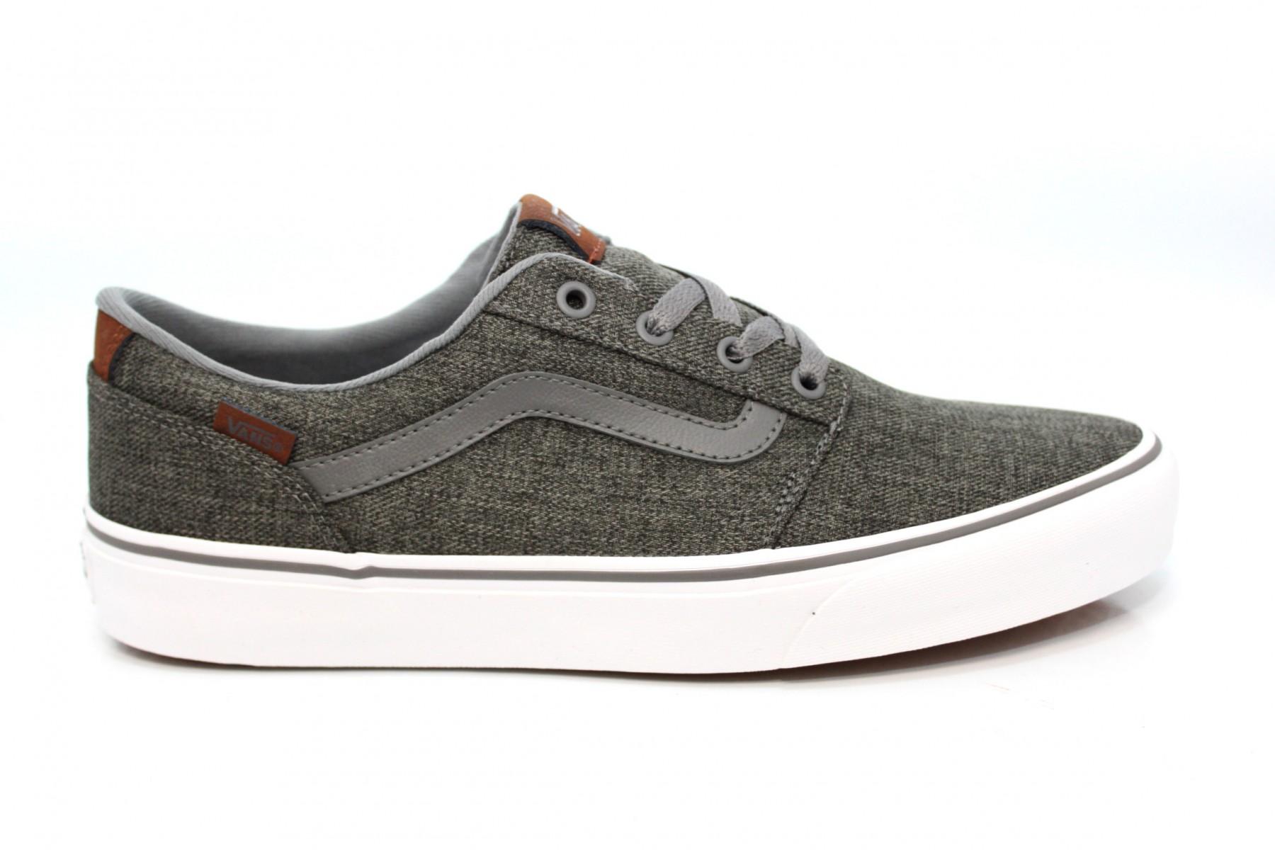 grijze heren sneaker Vans Chapman Stripe - VN0A38CBQ2N
