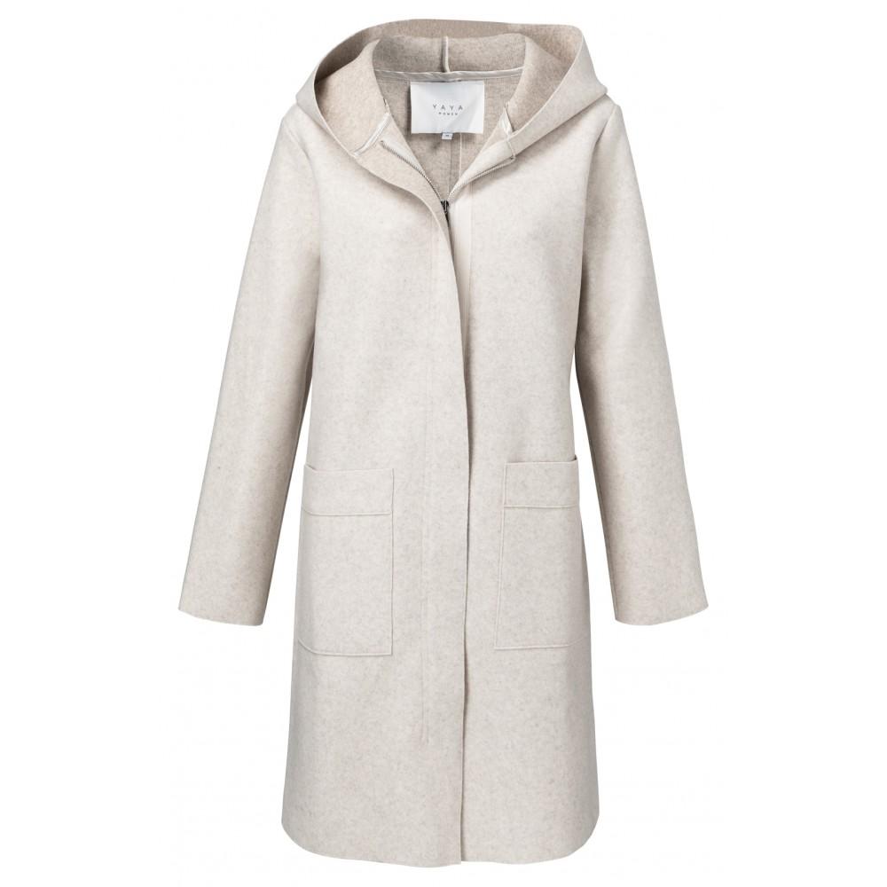 Beige dames jas met capuchon YAYA - 162110-922 - 99959