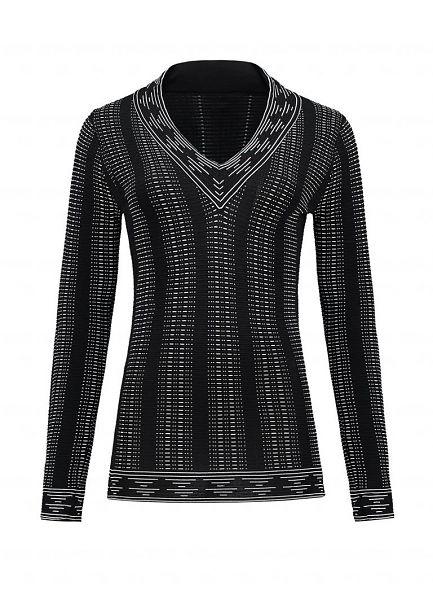 Zwart witte dames v-hals trui Nikkie - Jaz v-neck