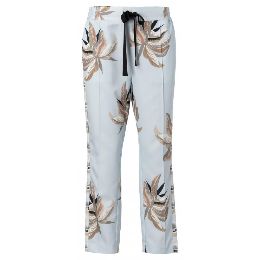 Lichtblauwe dames broek met print YAYA - 120147-915