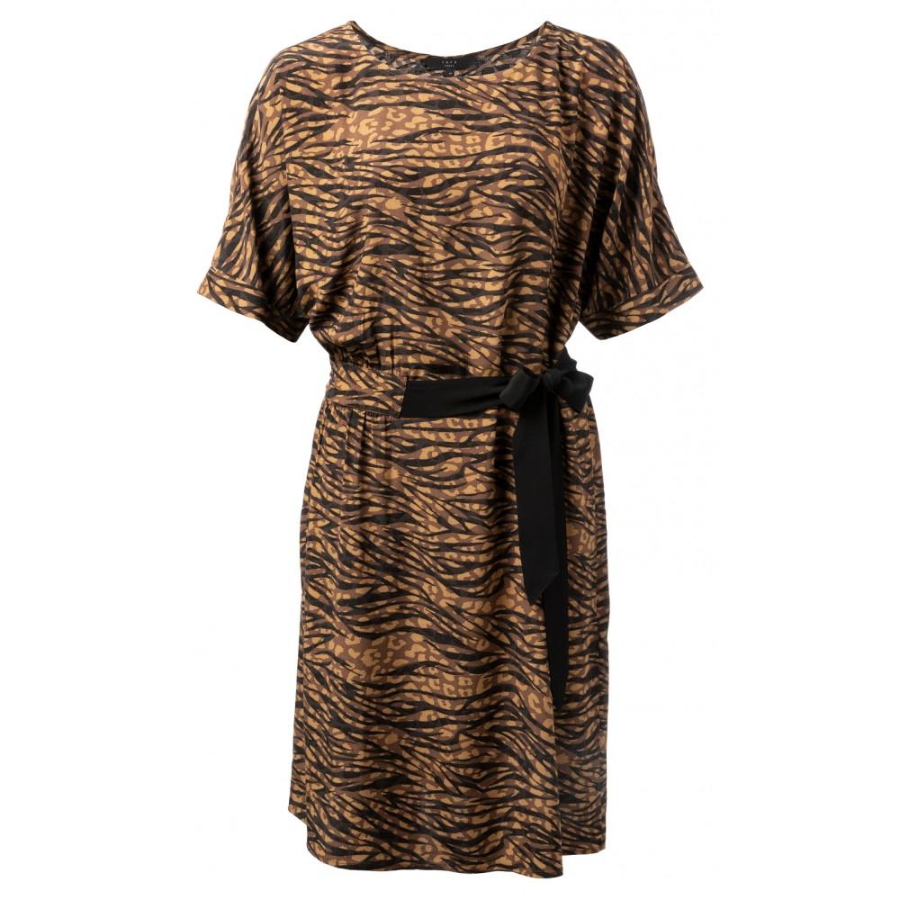 Bruin/zwart geprinte dames jurk YAYA - 1801193-920