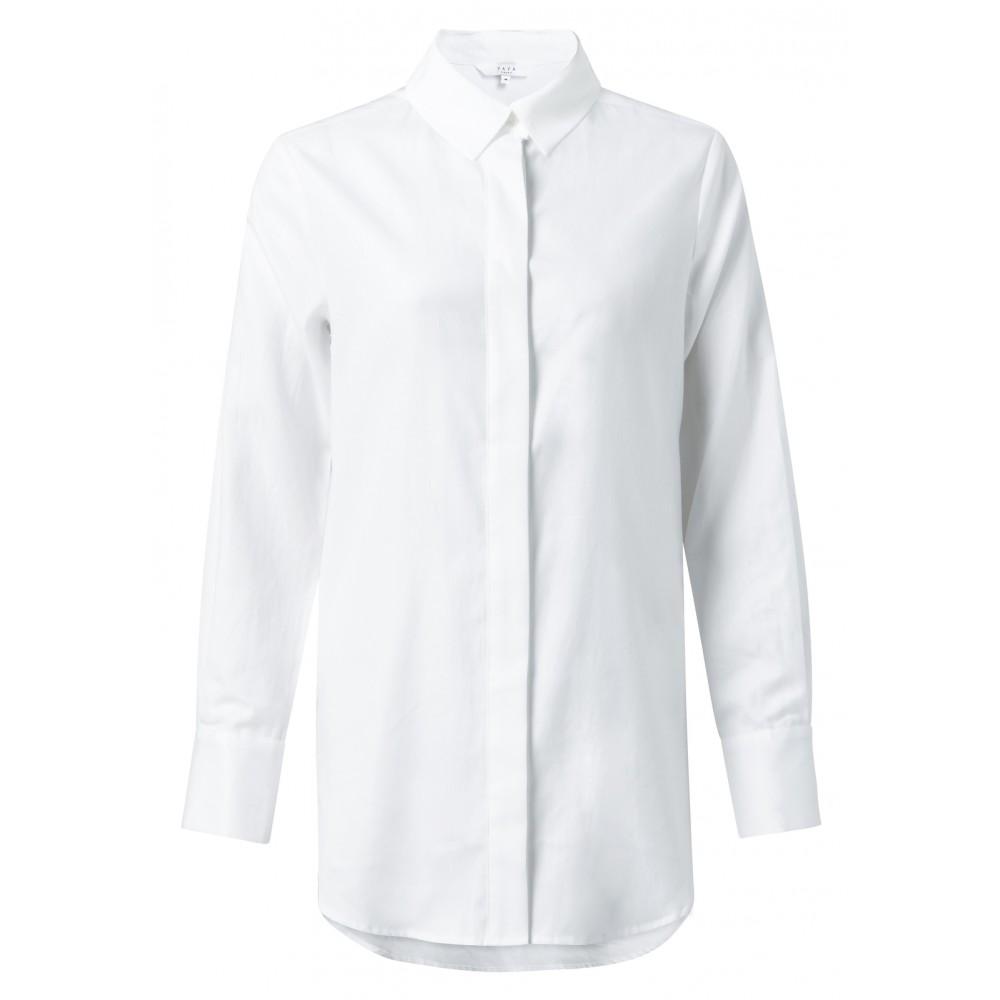 Witte katoenen dames blouse YAYA - 110105-924 - 00000
