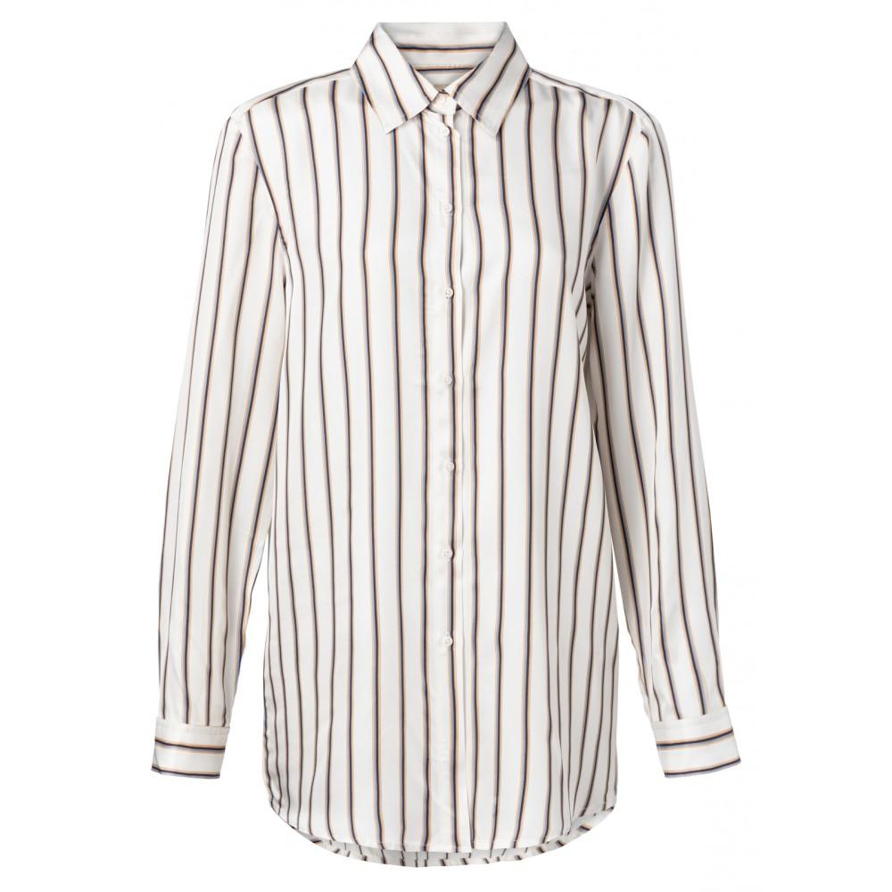 Wit dames blouse met streep YAYA - 110145-911