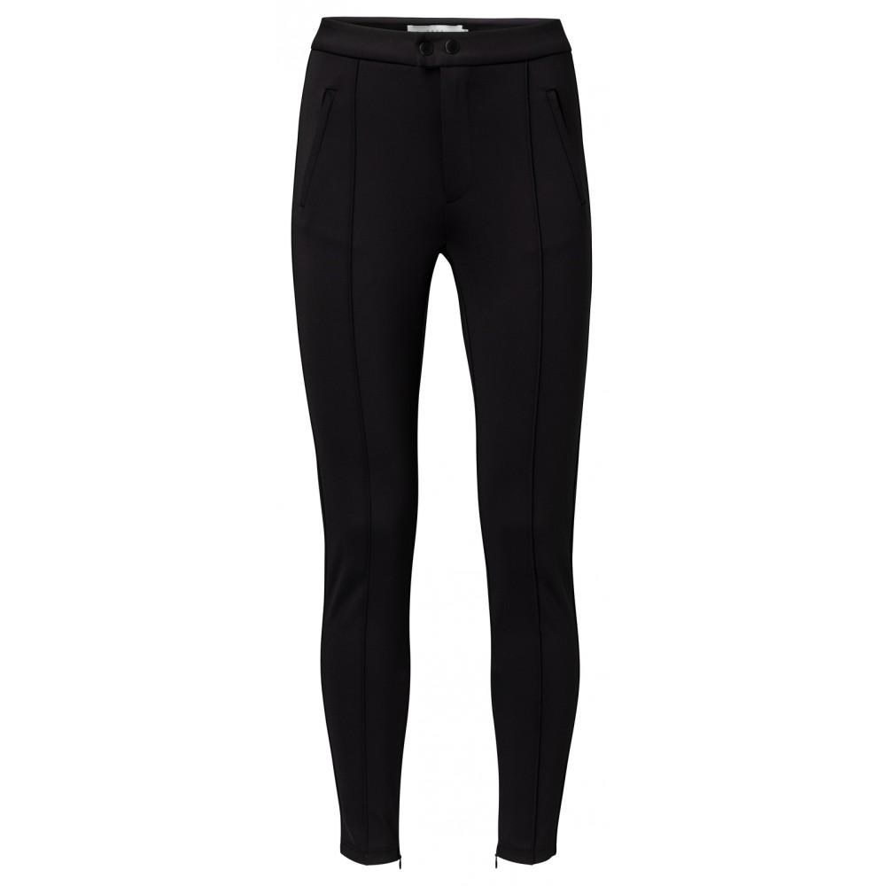 Zwarte dames legging met zoomlijnen YAYA - 126907-924 - 00001