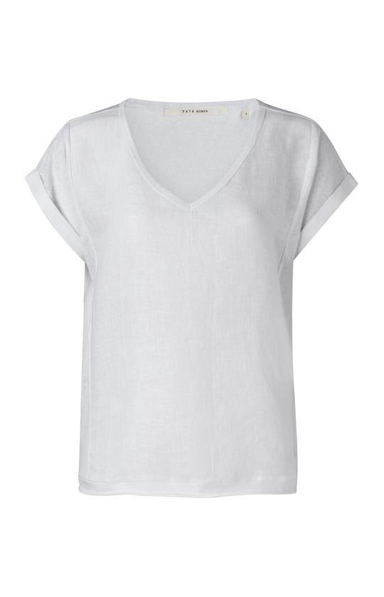 Wit dames linne shirt - Ya Ya - 00000