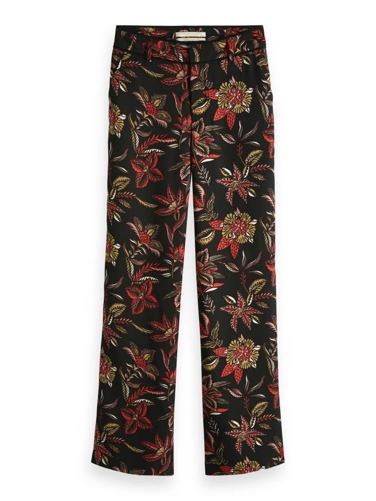 Zwarte broek met wijde pijpen en print Maison Scotch - 149894