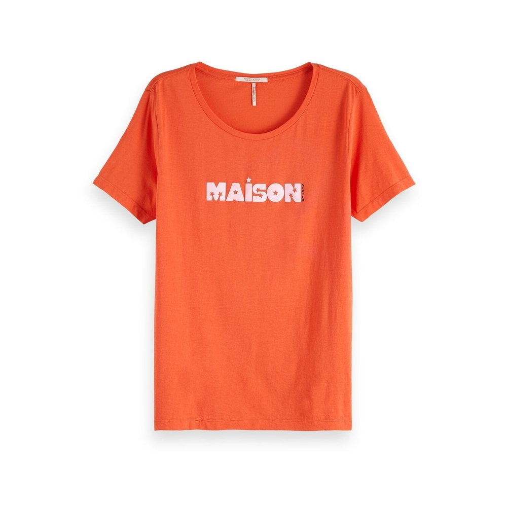 Oranje dames shirt Maison Scotch - 150161 - 36000