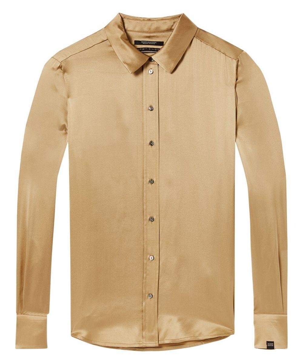 Goud kleurig zijden dames overhemd Maison Scotch - 146343