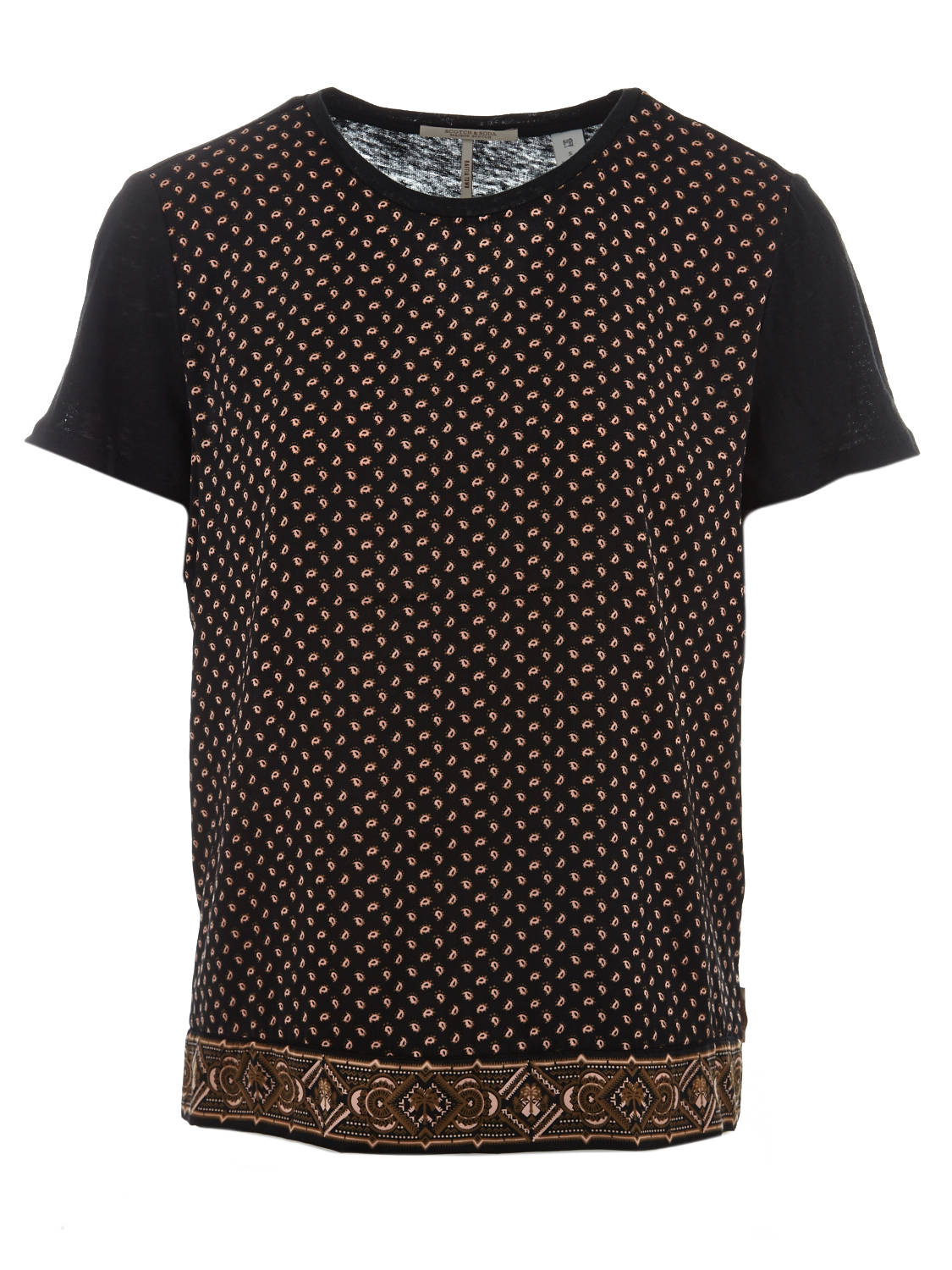 Zwart dames shirt met print Maison Scotch - 150160