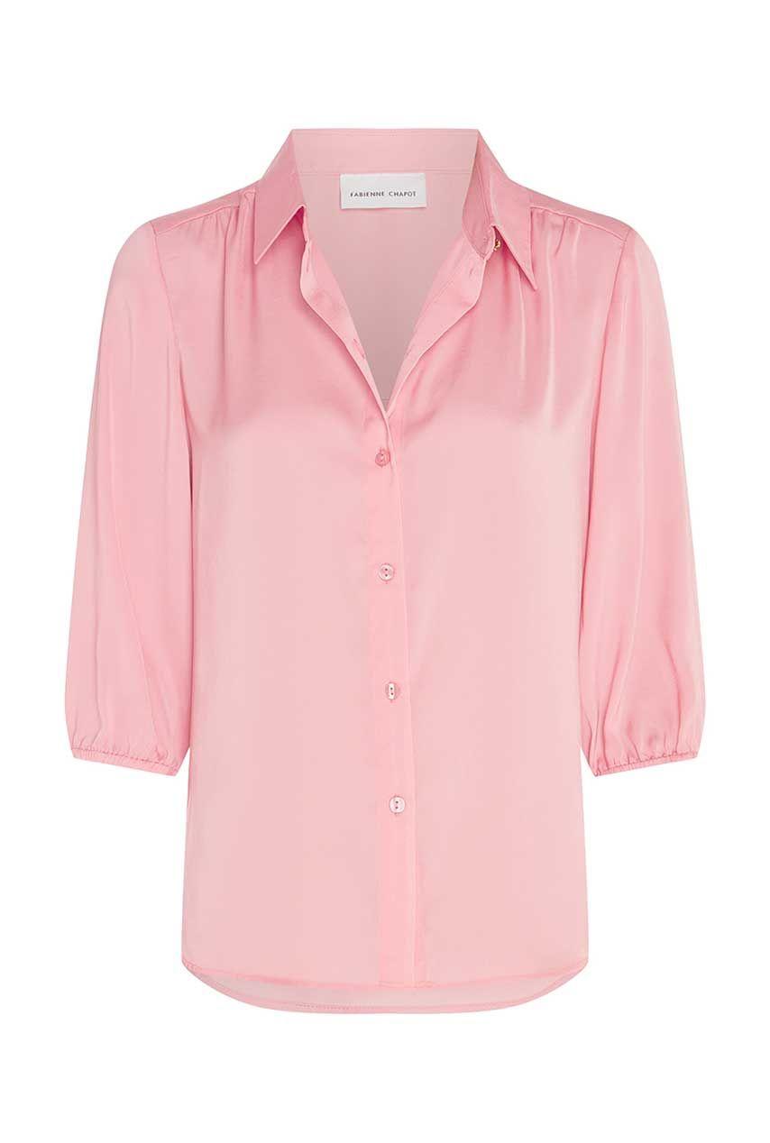 roze dames blouse korte mouwen - fabienne chapot - mira short blouse - trippy pink