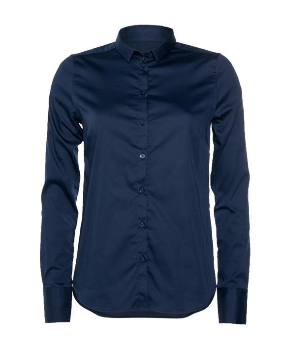 Donker blauwe dames blouse Mos Mosh - 115260-469