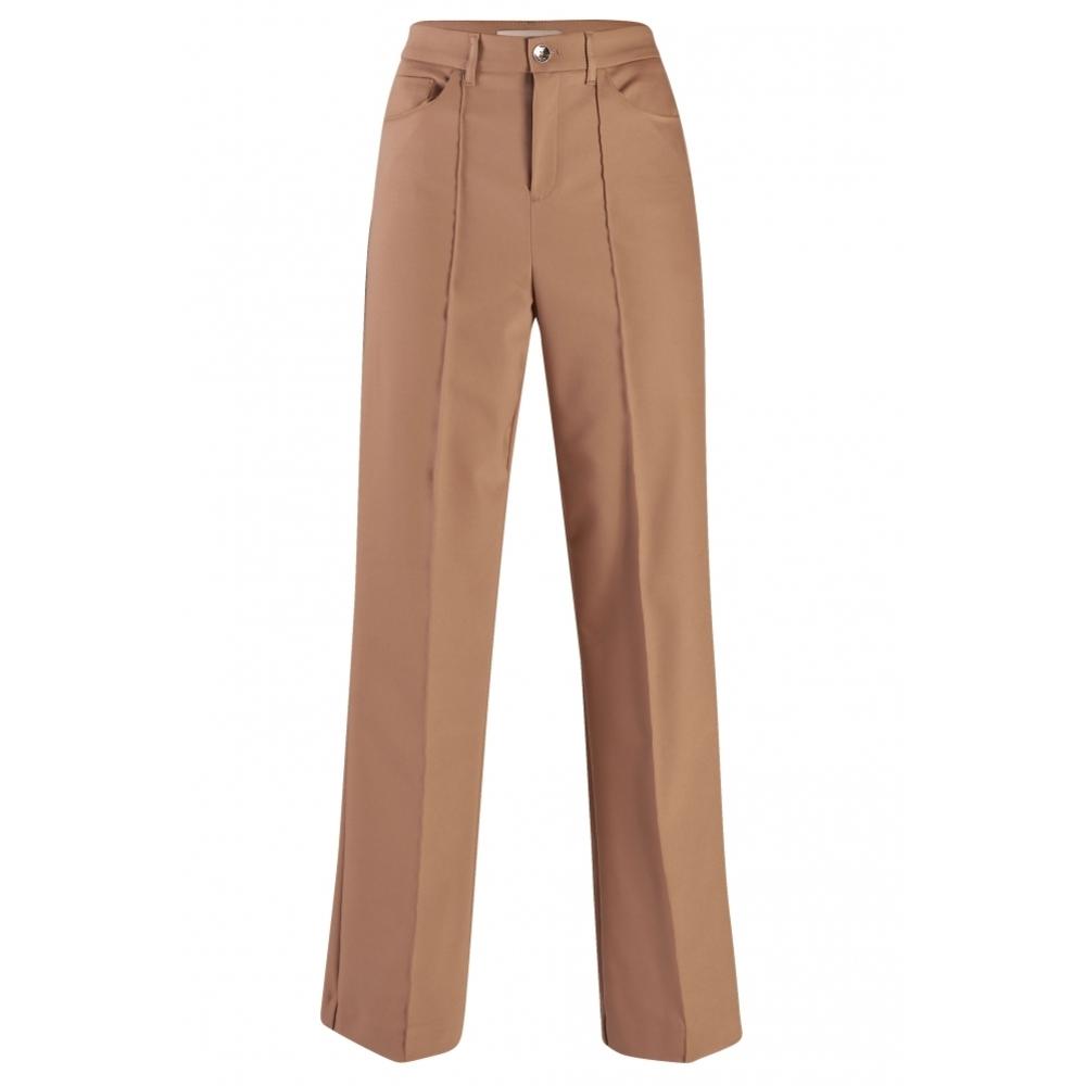 Bruine dames broek met wijde pijp Mos Mosh - 128691-638