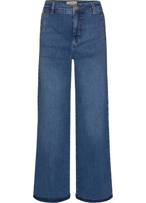 Blauwe wijde dames broek - Mos Mosh - Reem vera jeans - 140550-401
