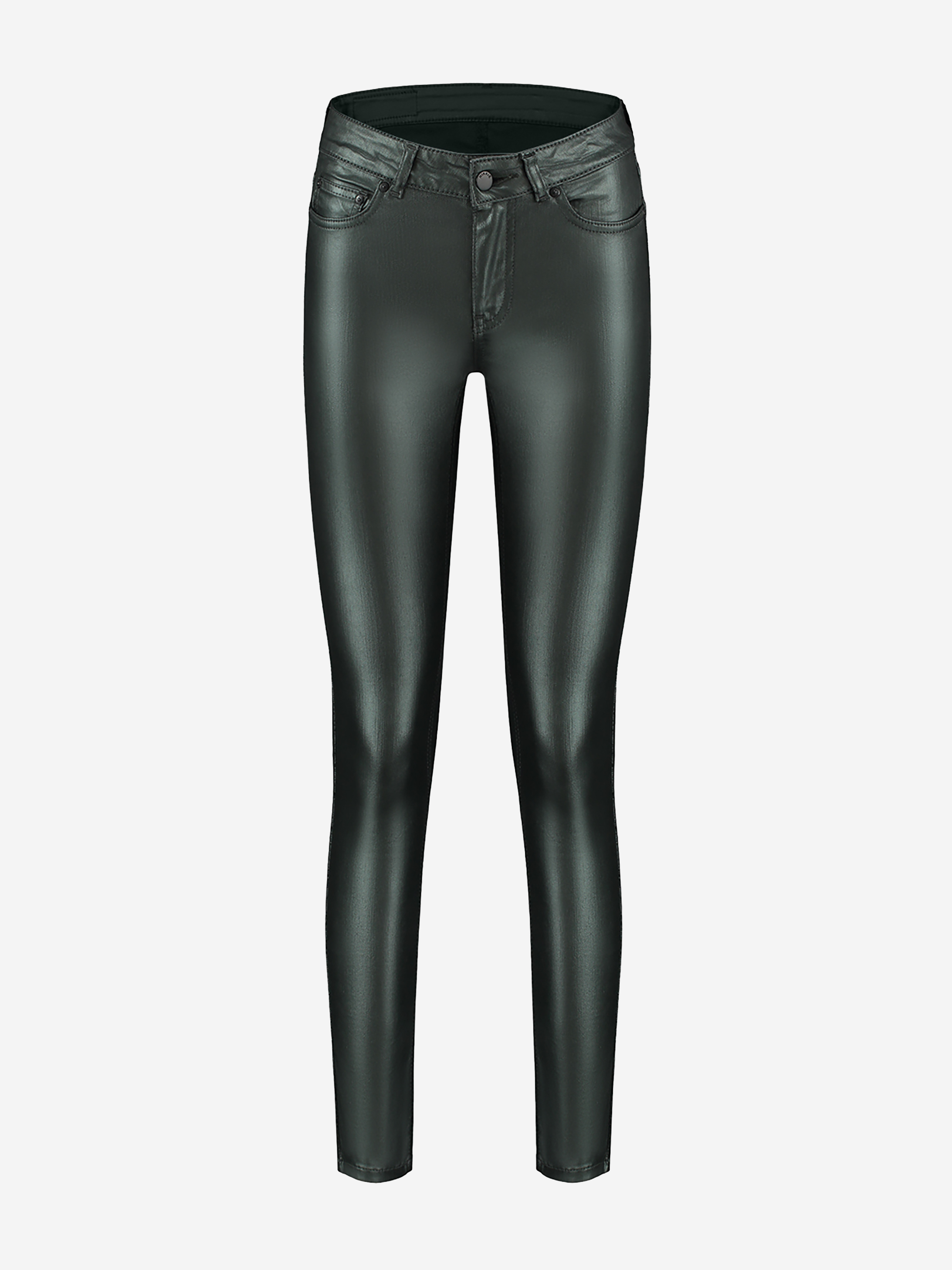 Skinny dames jeans met groene glanslaag Nikkie - Betty Coated Skinny - N2-640 1905 5506