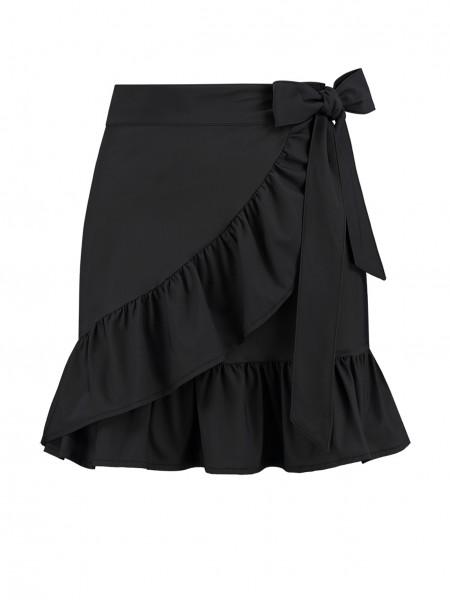 Zwarte dames rok met ruffle Nikkie - Suzy Overlay Skirt - N3-323 1904 9000