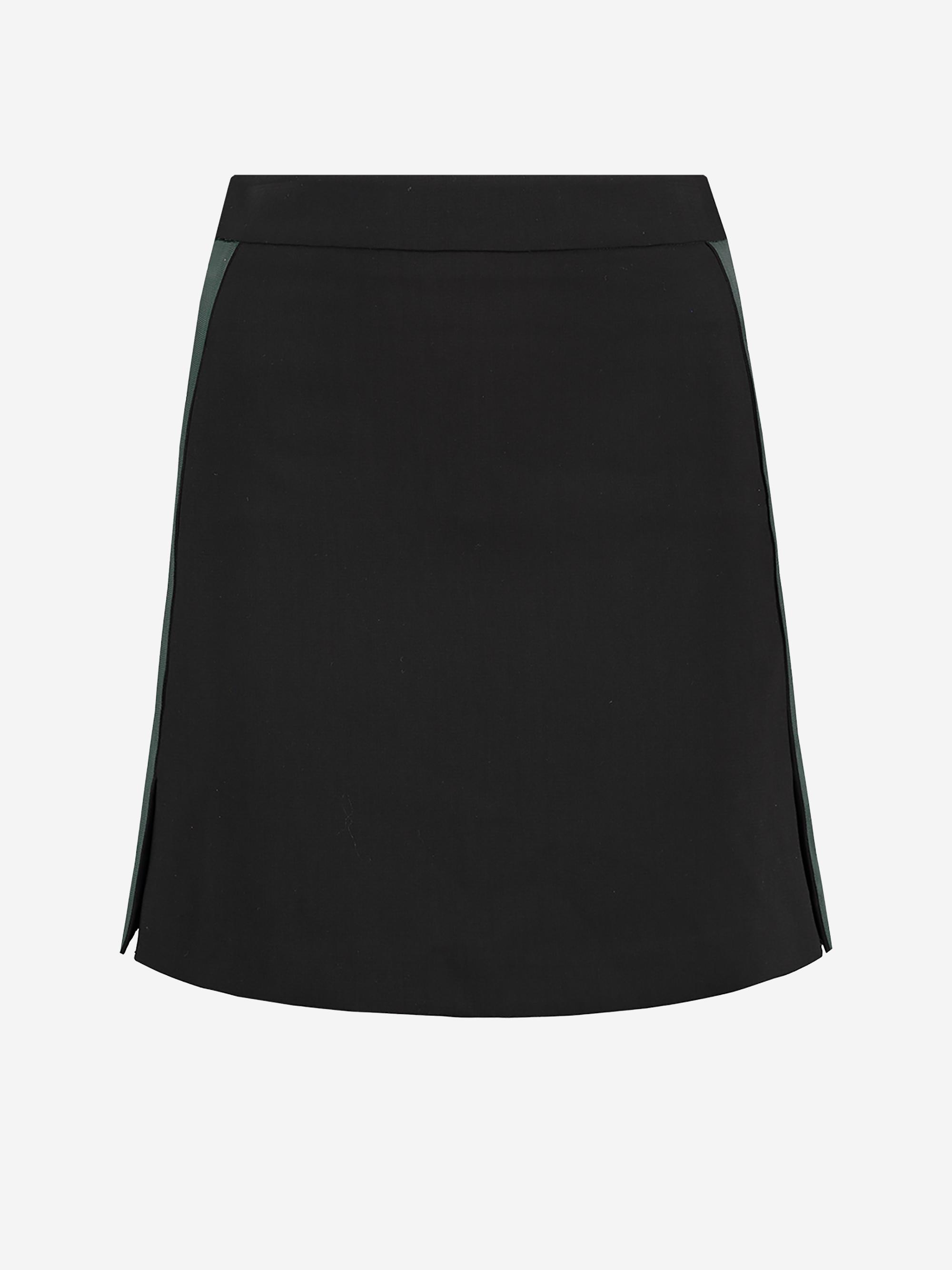 Zwarte dames rok met groene bies Nikkie - Lola Skirt - N3-505 1905 9000