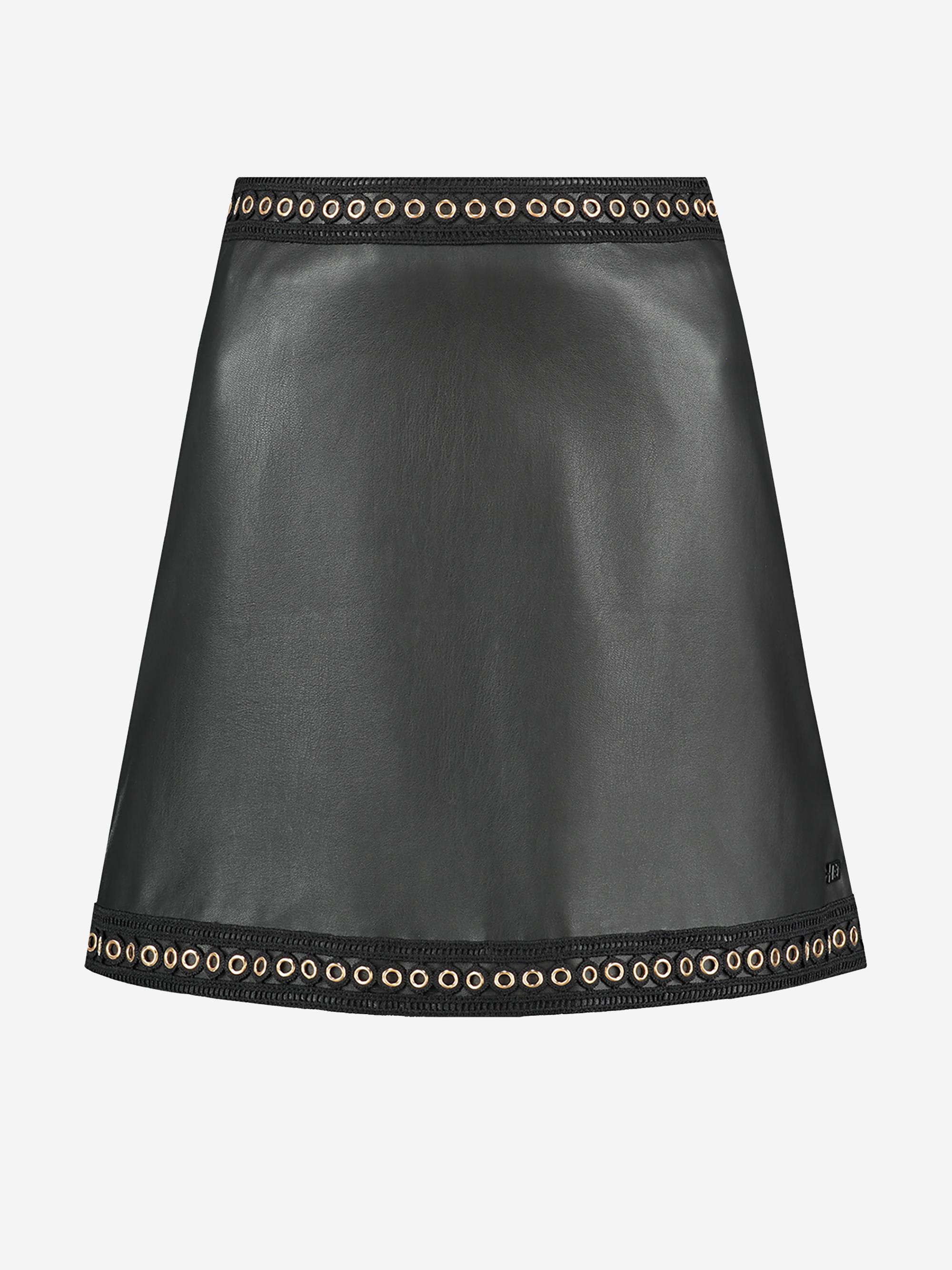Zwarte dames rok met gouden details Nikkie - Macha Skirt - N3-570 1905 9000