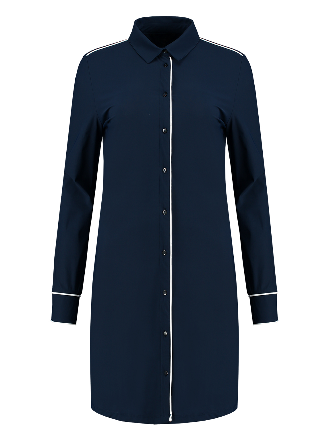 Donkerblauwe blouse jurk Nikkie - Suzy Blouse Dress - N5-362 1904 7800