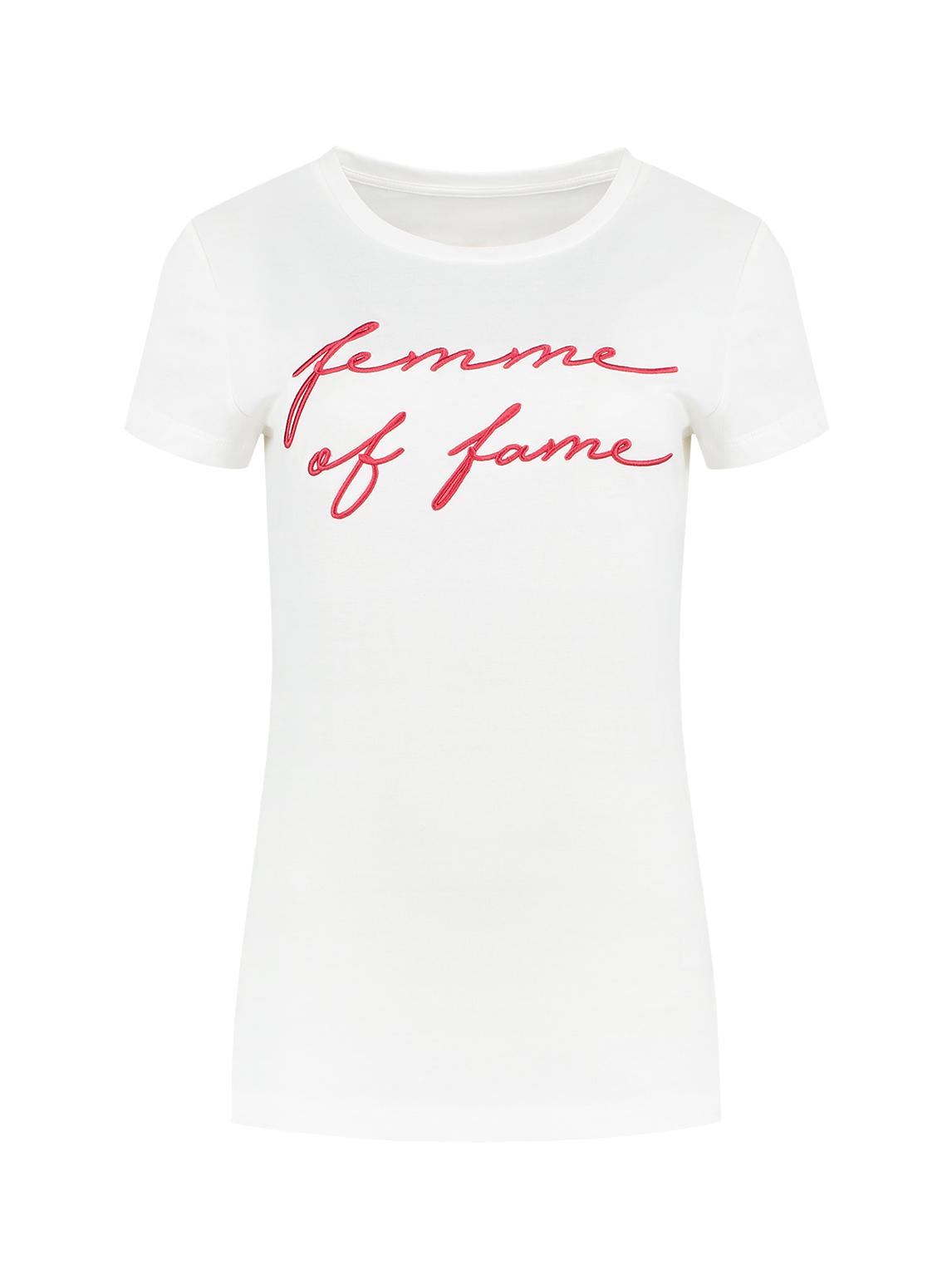 Wit dames T-shirt met artwork Nikkie - N6-042 1902 2000