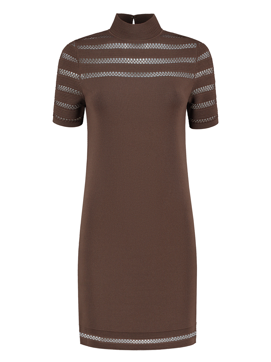 Donker bruine dames jurk Nikkie - Kacy Dress - N7-482 1905 5506